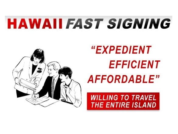 Hawaii Fast Signing