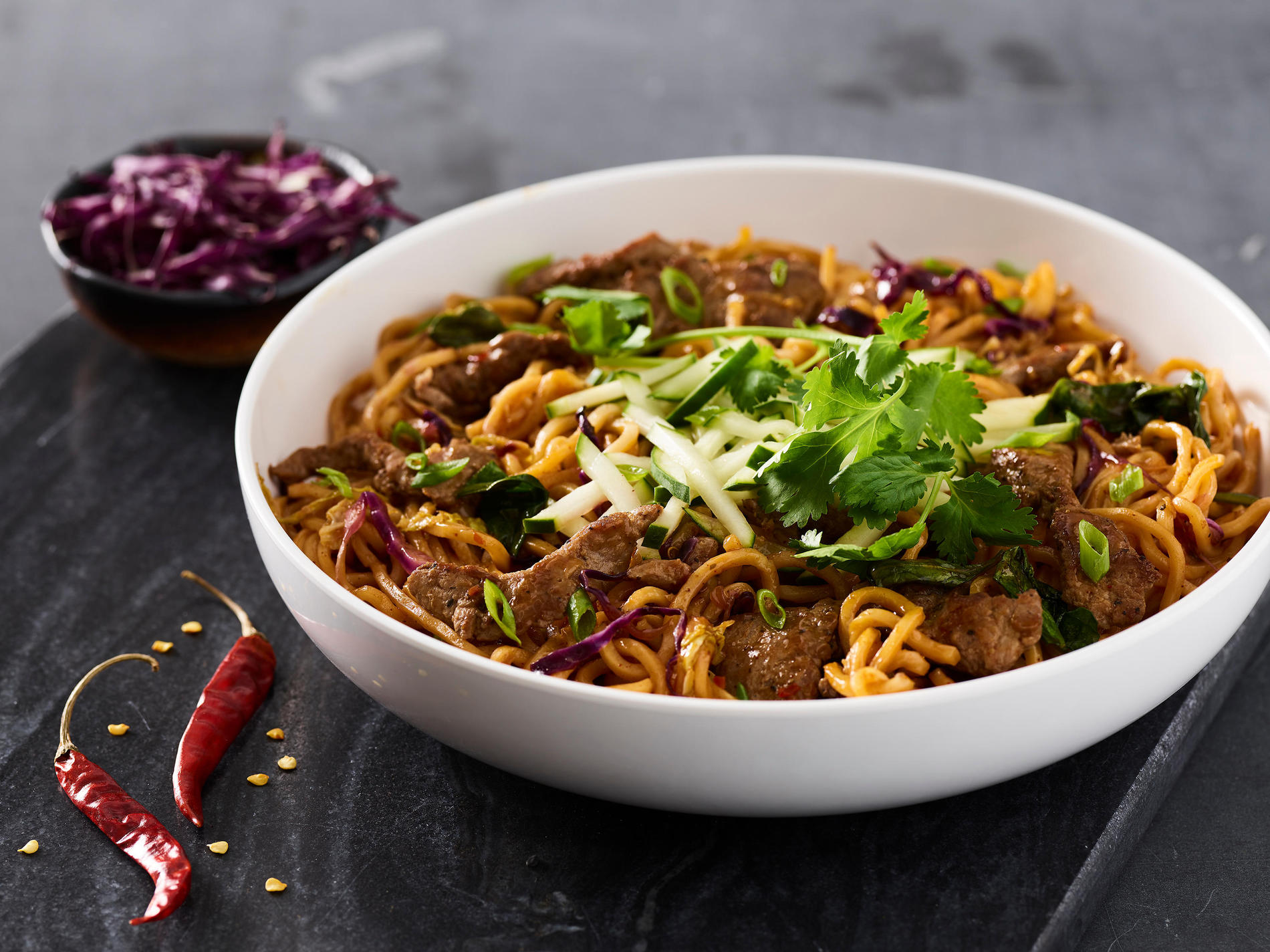 Spicy Korean Beef Noodles