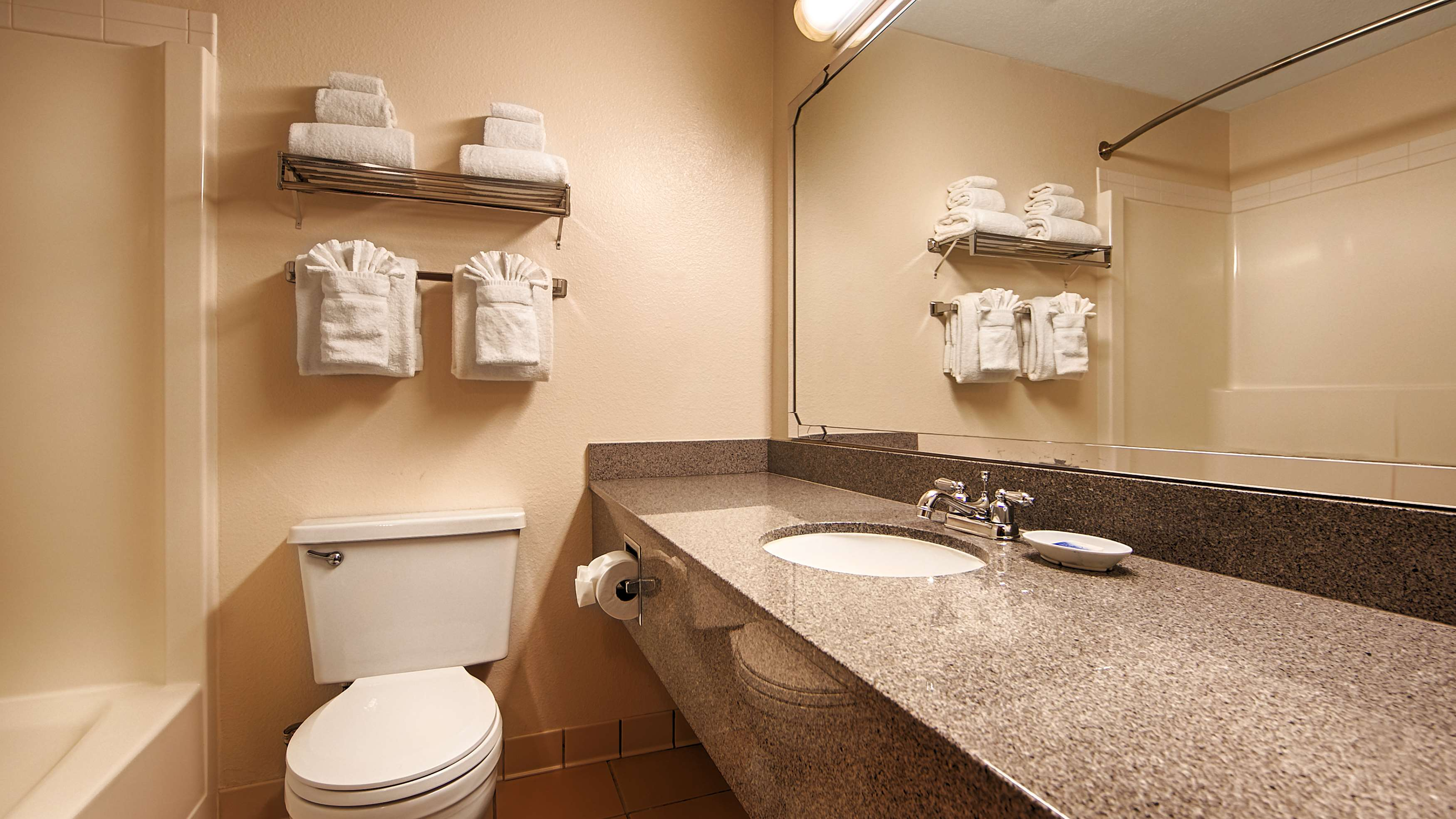 Guest Bathroom Best Western Seattle Airport Hotel Seattle (206)878-3300