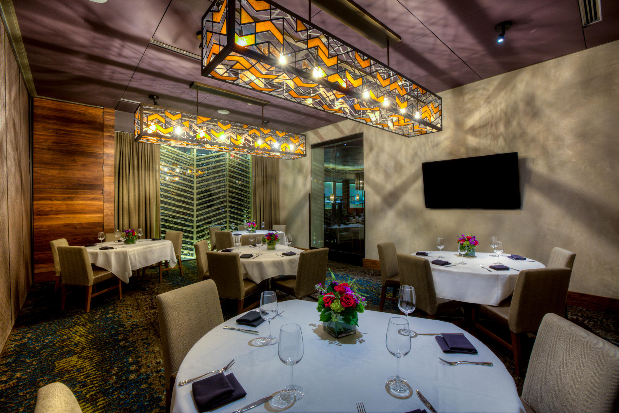 Del Frisco's Double Eagle Steak House Orlando OAK ROOM (HALF CELLAR) private dining room