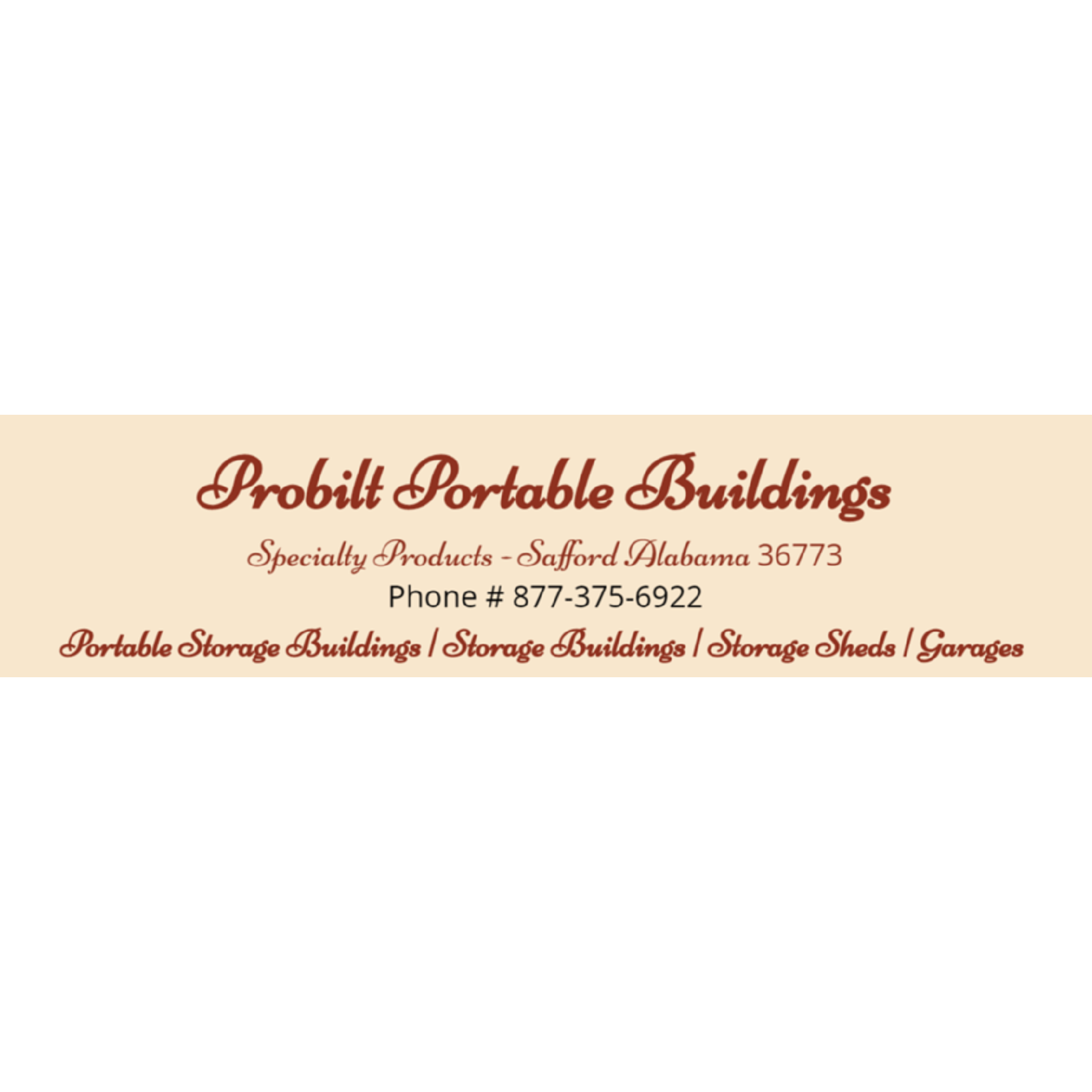 Probilt Storage Buildings by Specialty Products