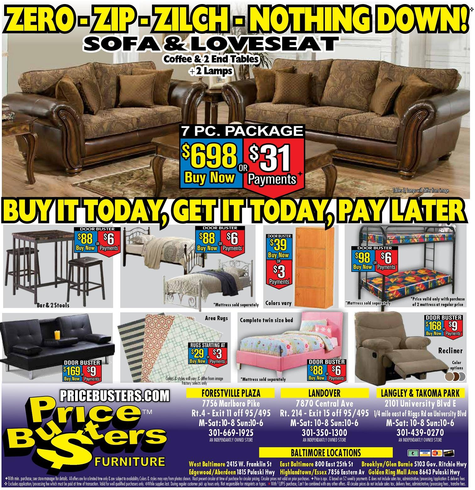 Price Busters Discount Furniture Baltimore Maryland Md