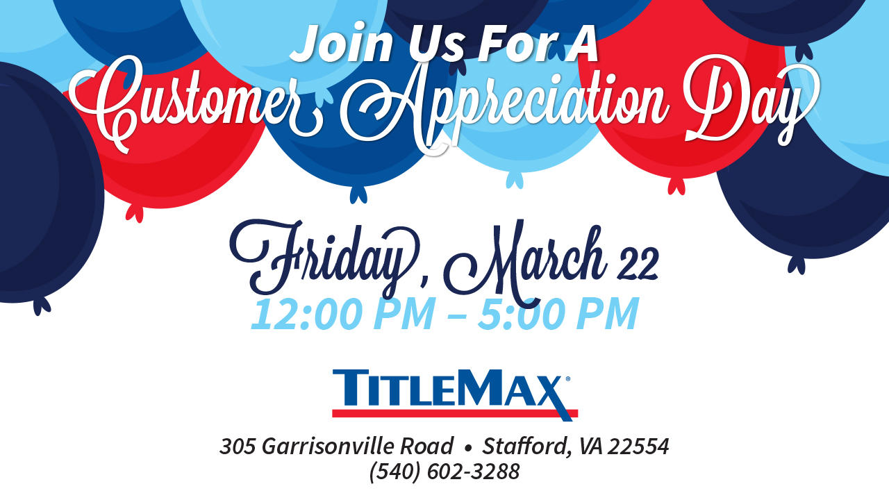 Community Appreciation Day at TitleMax Stafford, VA