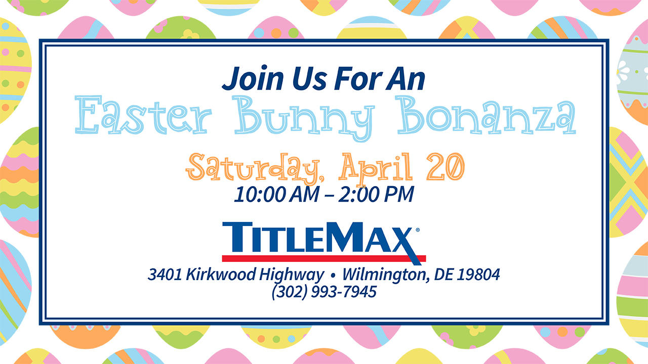 Pictures with the Easter Bunny at TitleMax Wilmington, DE