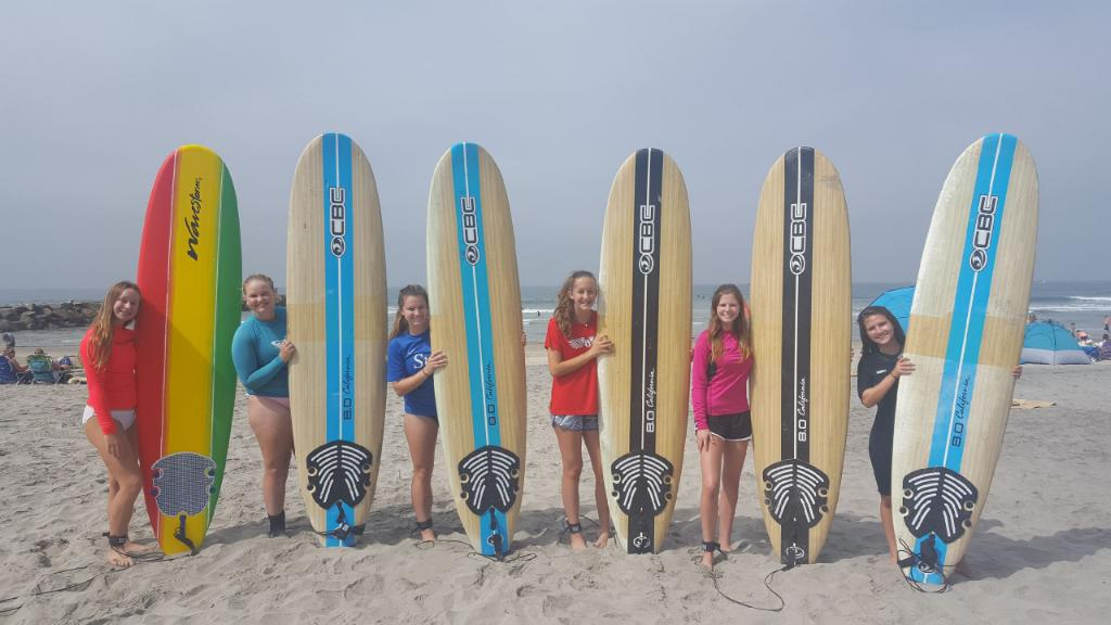 Surf Party for soccer team. Book now at sandiegosurf.com