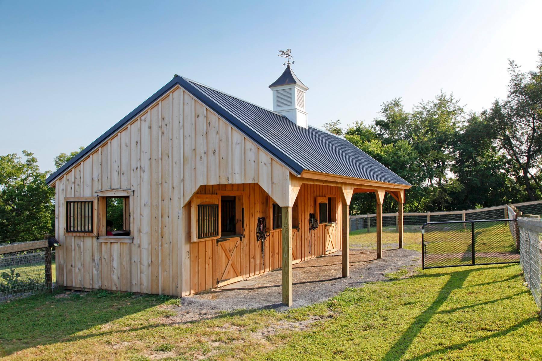 Horse barn builders llc in gettysburg pa 17325 for Horse barn builder
