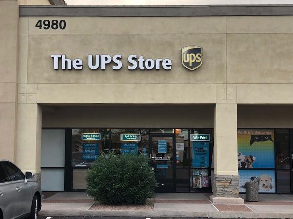 Exterior storefront image of The UPS Store #4030 in Chandler, AZ