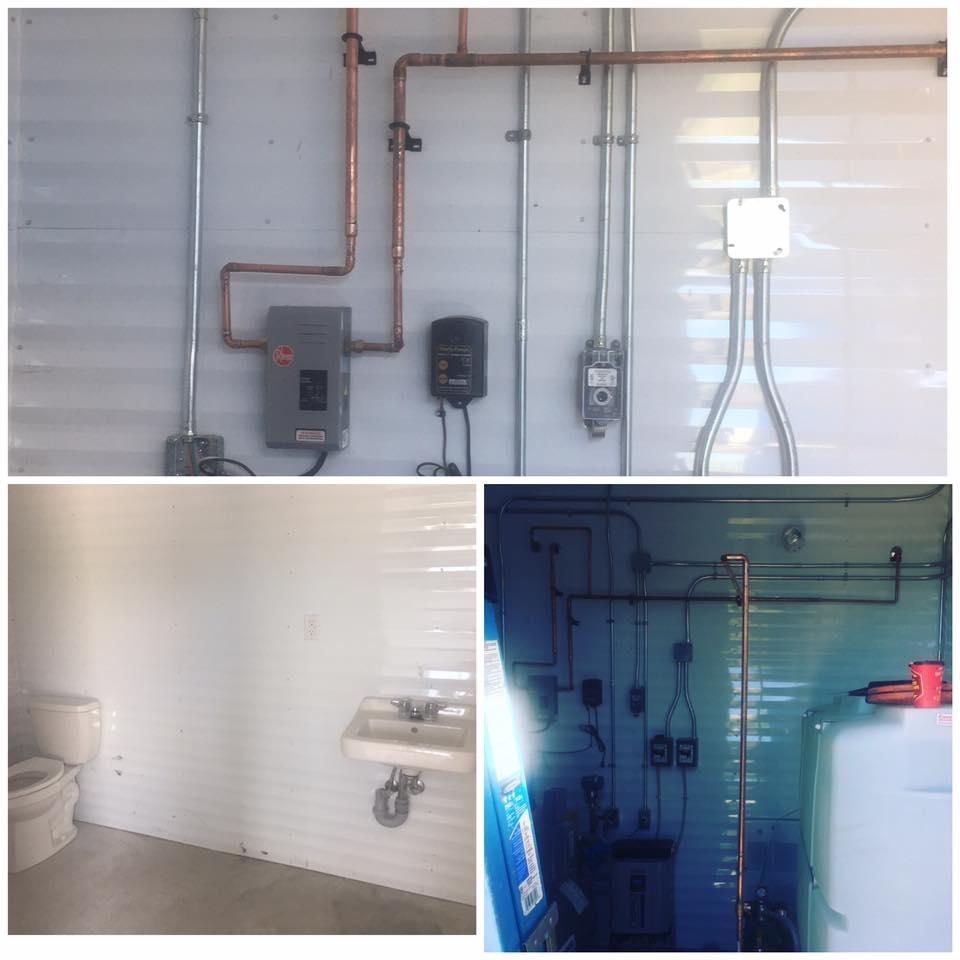 Hot Shots Plumbing & Heating Corporation in Winnipeg: Mechanical Room - Copper piping