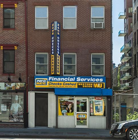 External view of PAYOMATIC store located at 94 Eight Ave New York, NY 10001