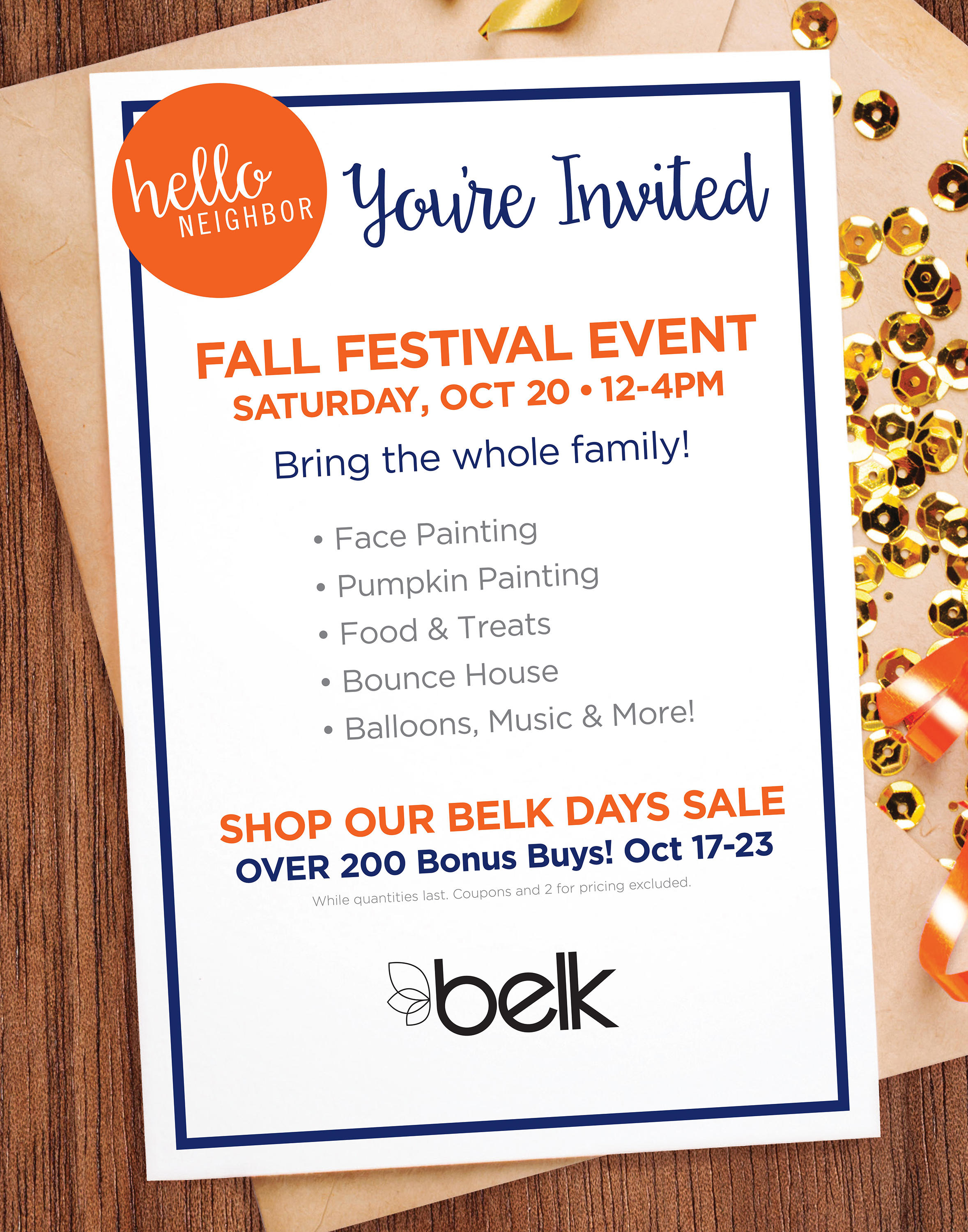 Free Fall Family Festival at Belk, Valley Mall in Hagerstown