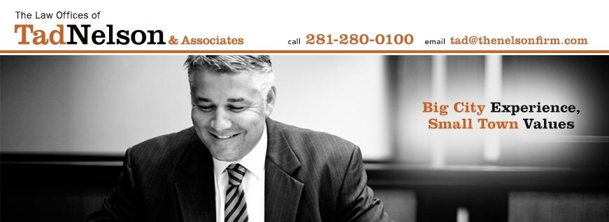 The Law Offices of Tad Nelson & Associates - ad image