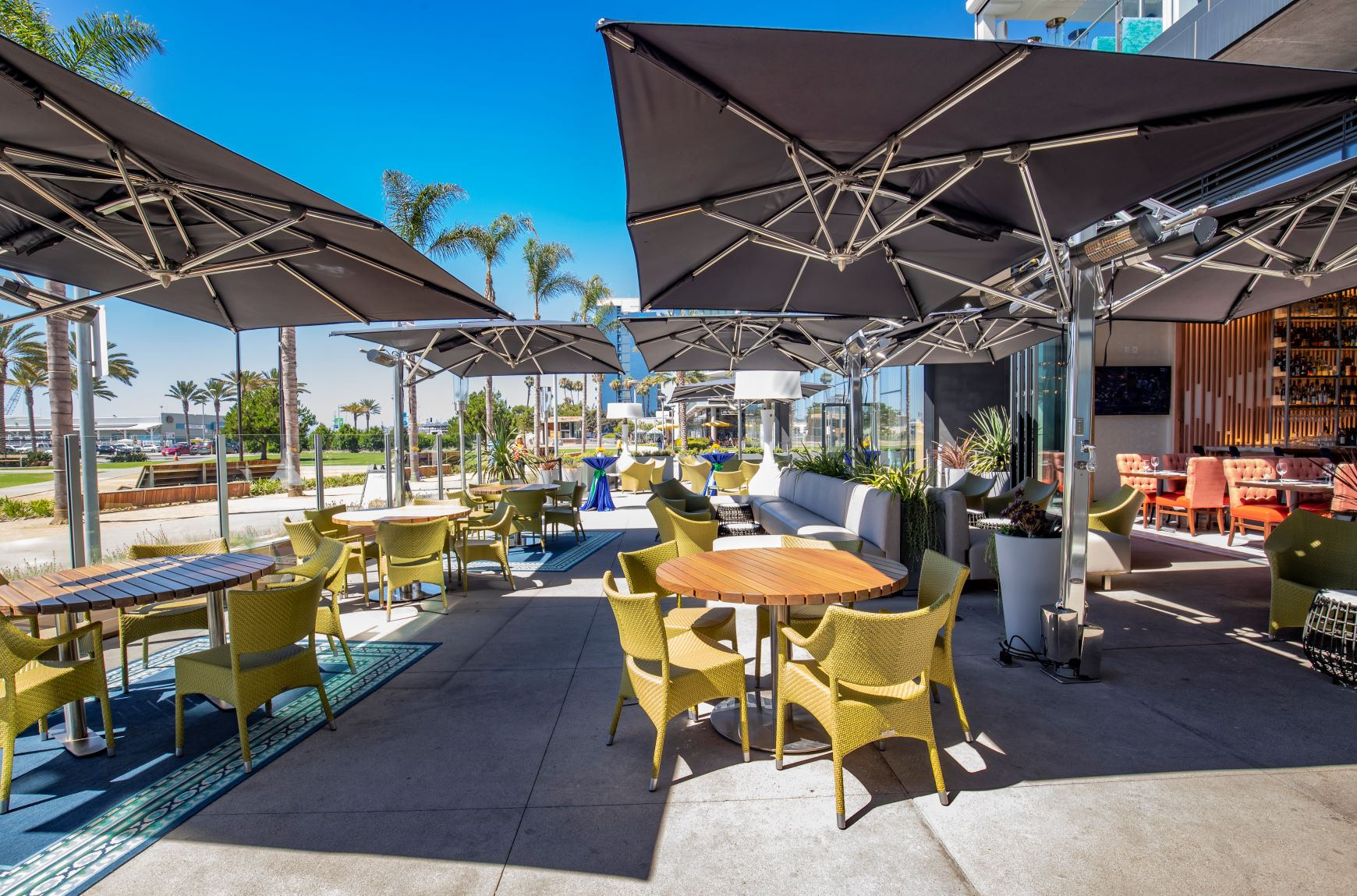 Del Frisco's Double Eagle Steakhouse San Diego Main Patio with Seaside Patio private dining room