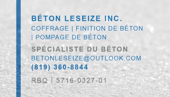 Beton Leseize Gatineau (819)360-8844