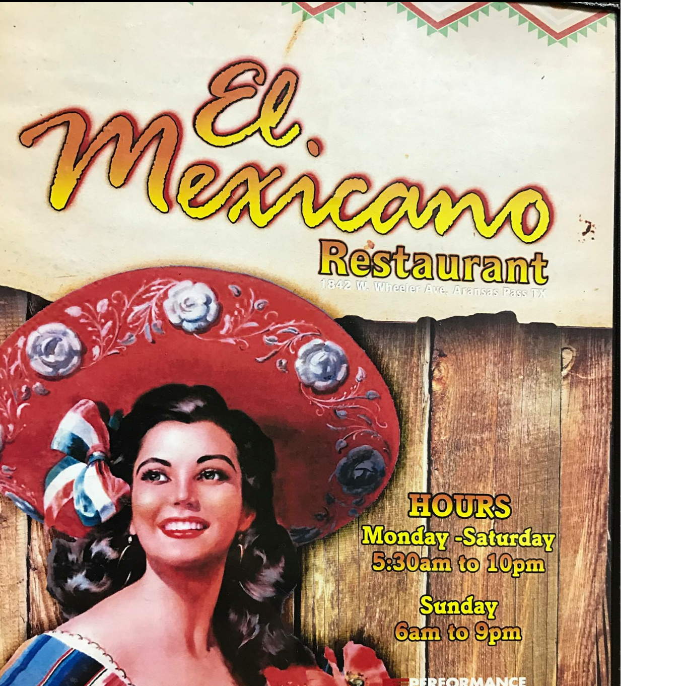 Restaurant in TX Aransas Pass 78336 El mexicano restaurante 1842 W Wheeler Ave  (361)758-7580