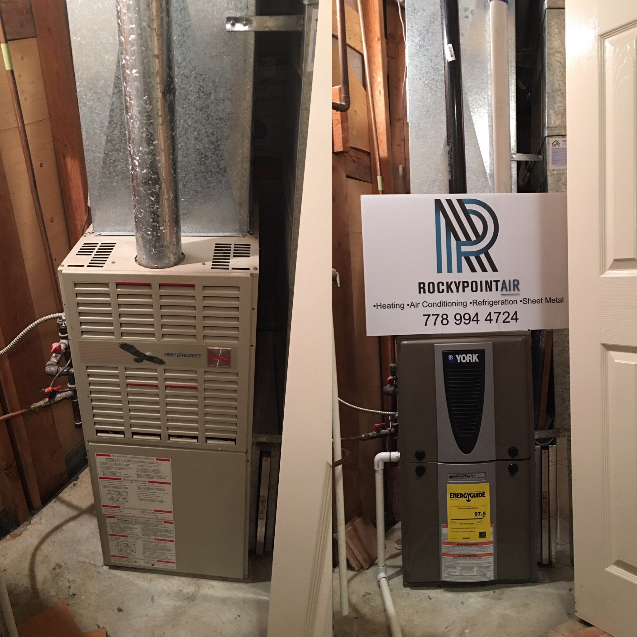 Rocky Point Heating & Air Conditioning in Port Moody: High Efficient Furnace upgrade. Not only will this customer see a savings on their future gas bills, but they also saved on the installation by taking advantage of our $500 off special.