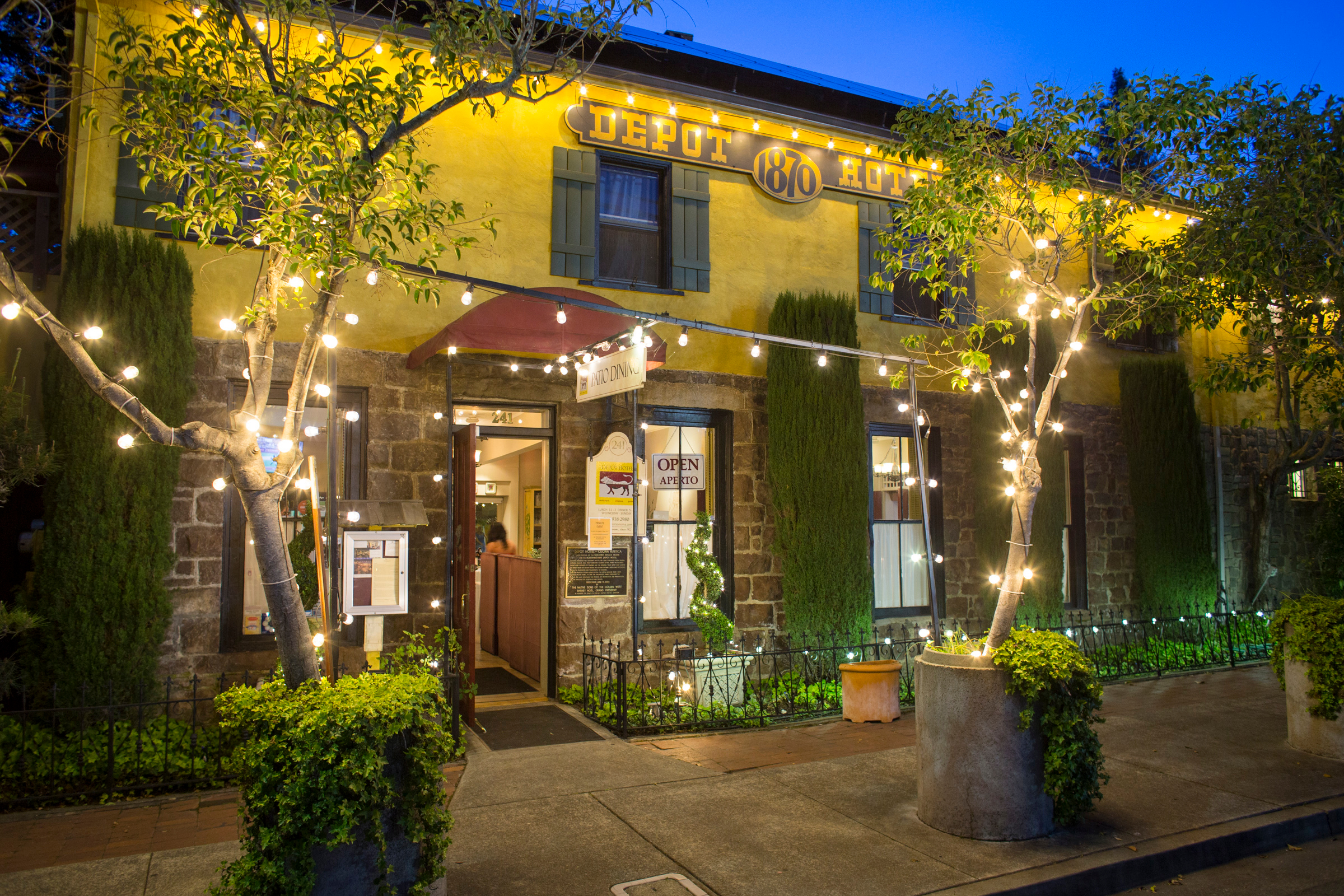 The Depot Hotel Restaurant Sonoma Sonoma Ca