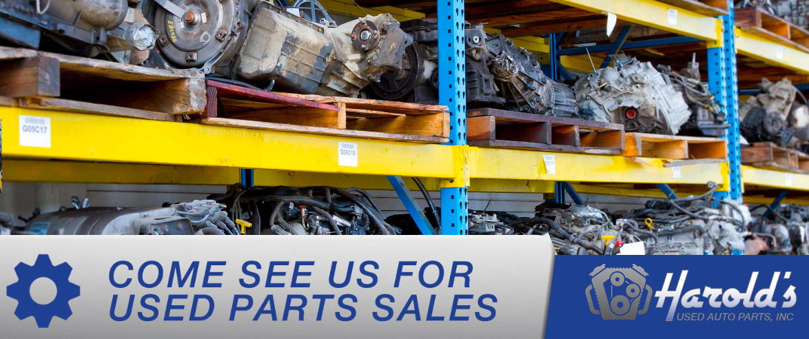 Here at Harold's Used Auto Parts, Inc has a supply of used auto parts!
