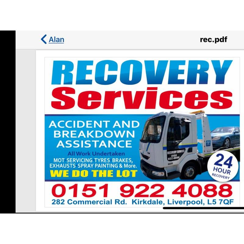 Recovery Services MOT Centre - Liverpool, Merseyside L5 7RQ - 01519 224088 | ShowMeLocal.com