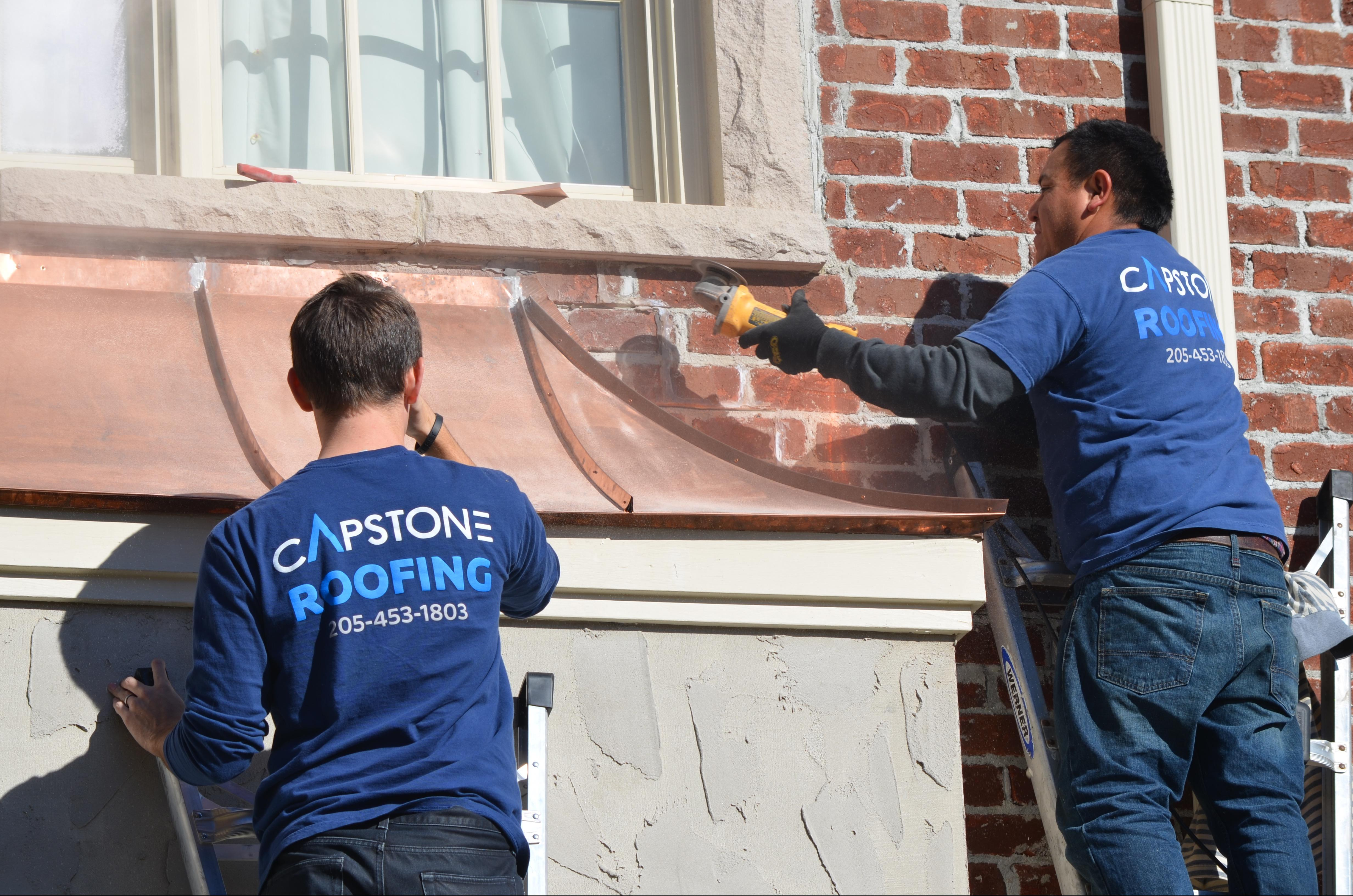 Copper roof installtion in Helena, Alabama.