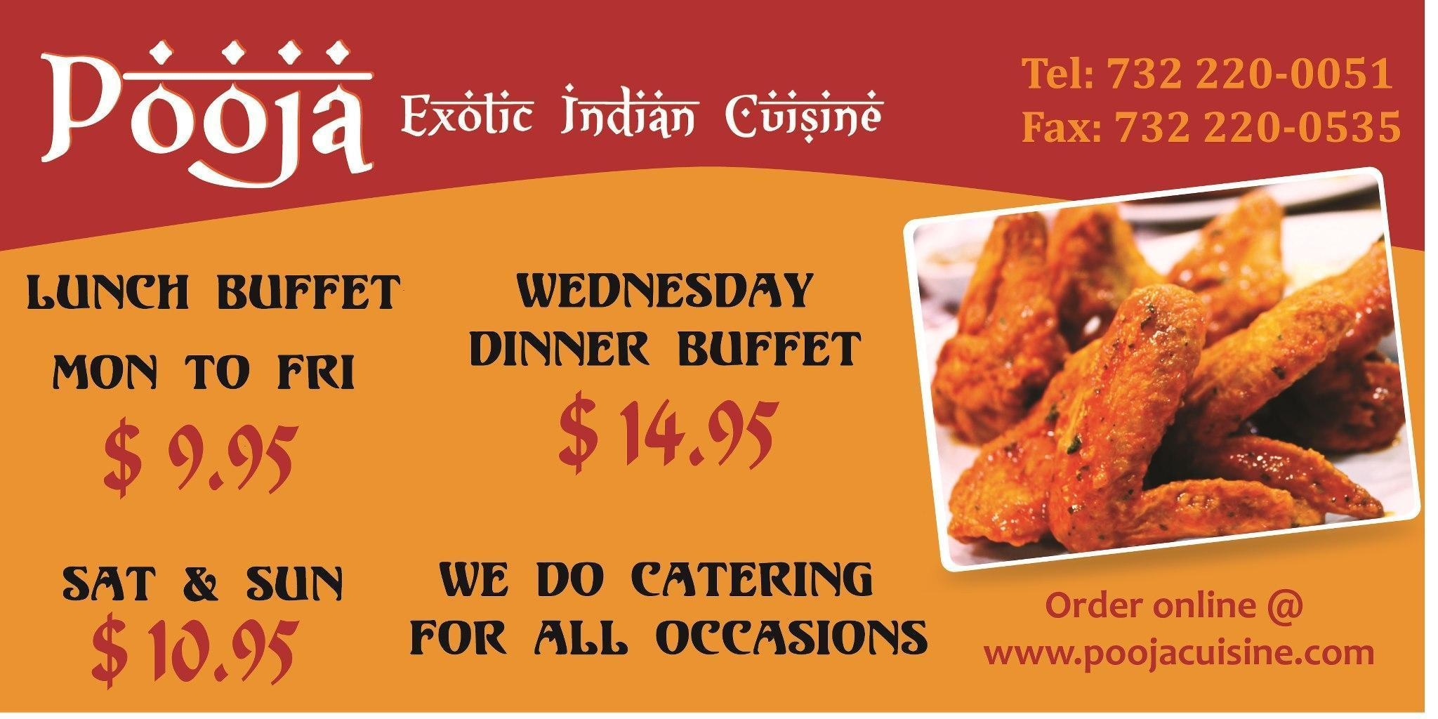 Pooja restaurant catering services en somerset nj for Aroma indian cuisine coupon