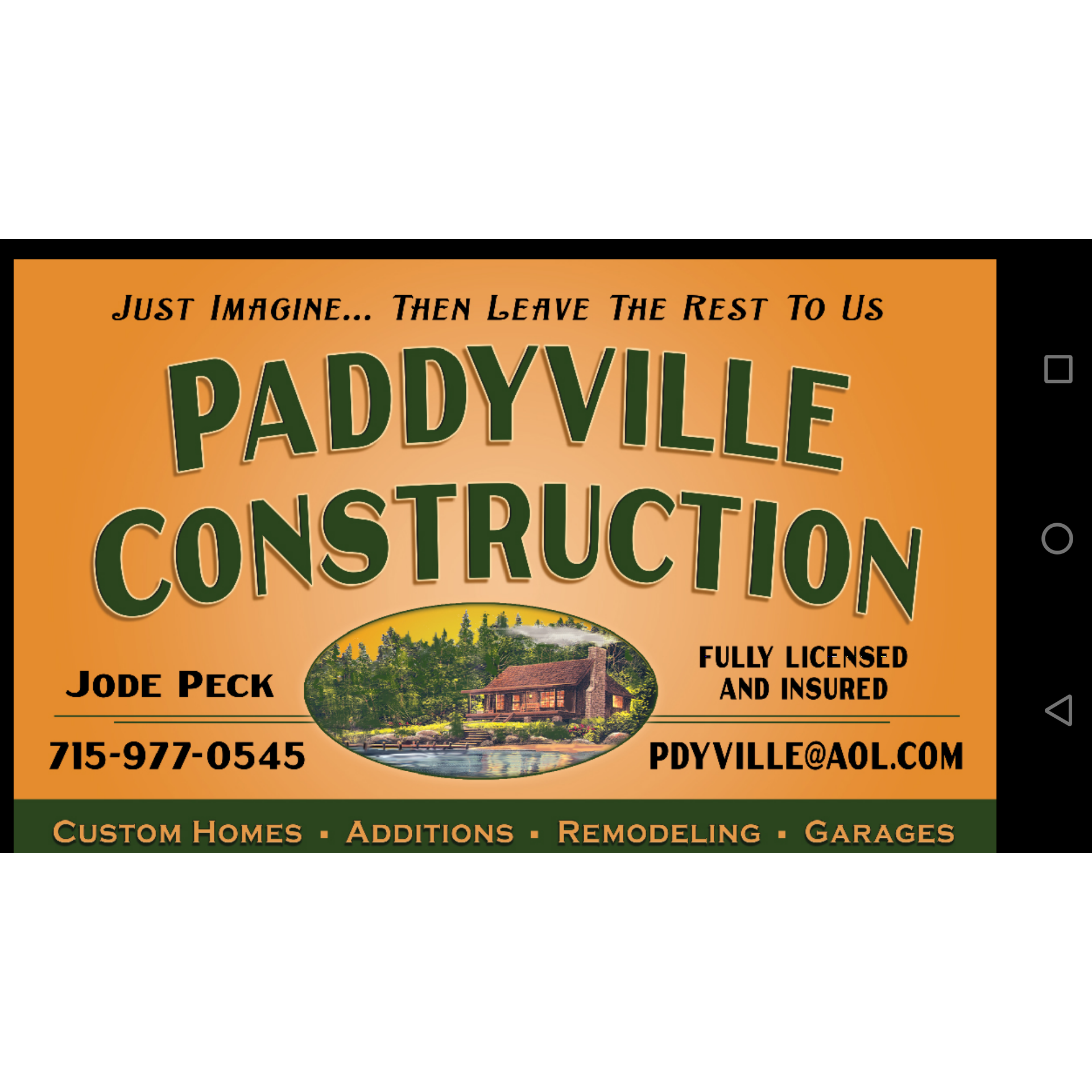 Paddyville Construction Logo