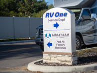 RV One Superstores Tampa Street Sign