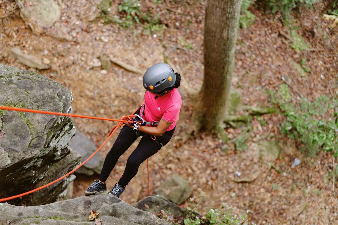 Scenic Rappelling Adventure in the White Mountains