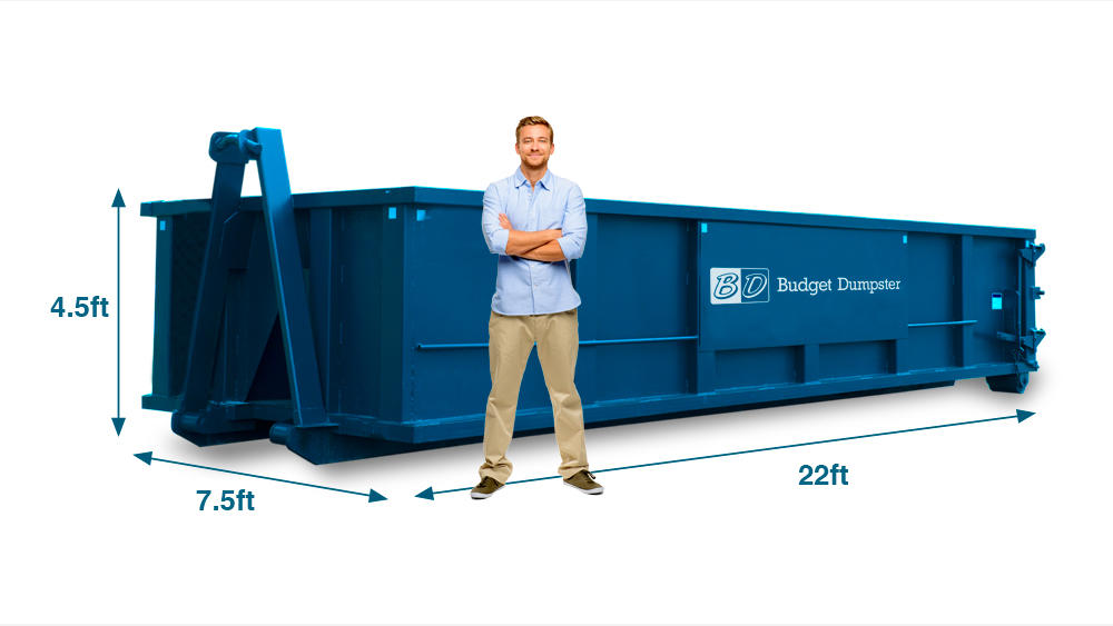 A 20 yard dumpster is a mid-size container and the most commonly rented due to its versatility. This size dumpster is suitable for a variety of projects, including roofing and big landscaping jobs.