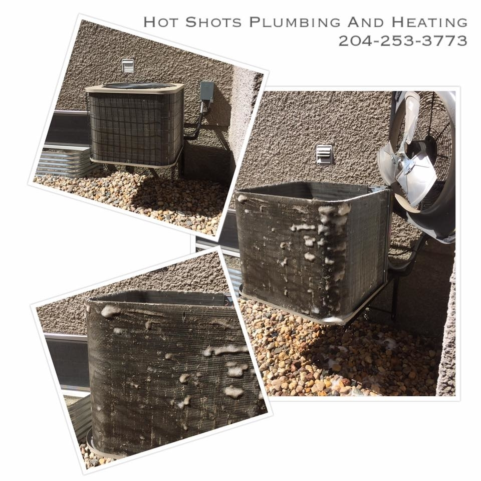 Hot Shots Plumbing & Heating Corporation in Winnipeg: Air Conditioner Cleaning and Maintenance - Recharge and Reclaim Air Conditioner Units