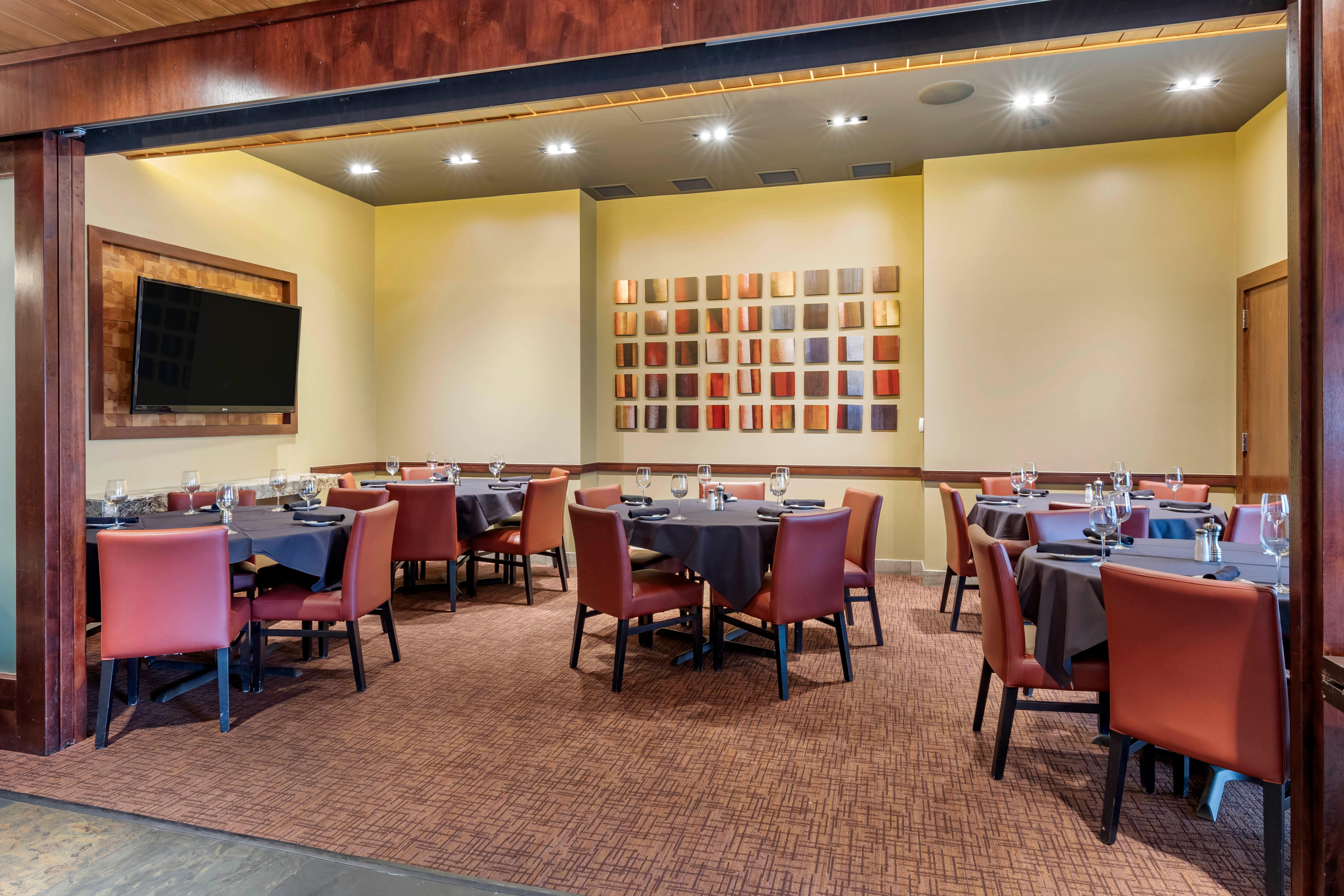 Del Frisco's Grille Dallas Longhorn Room group dining room