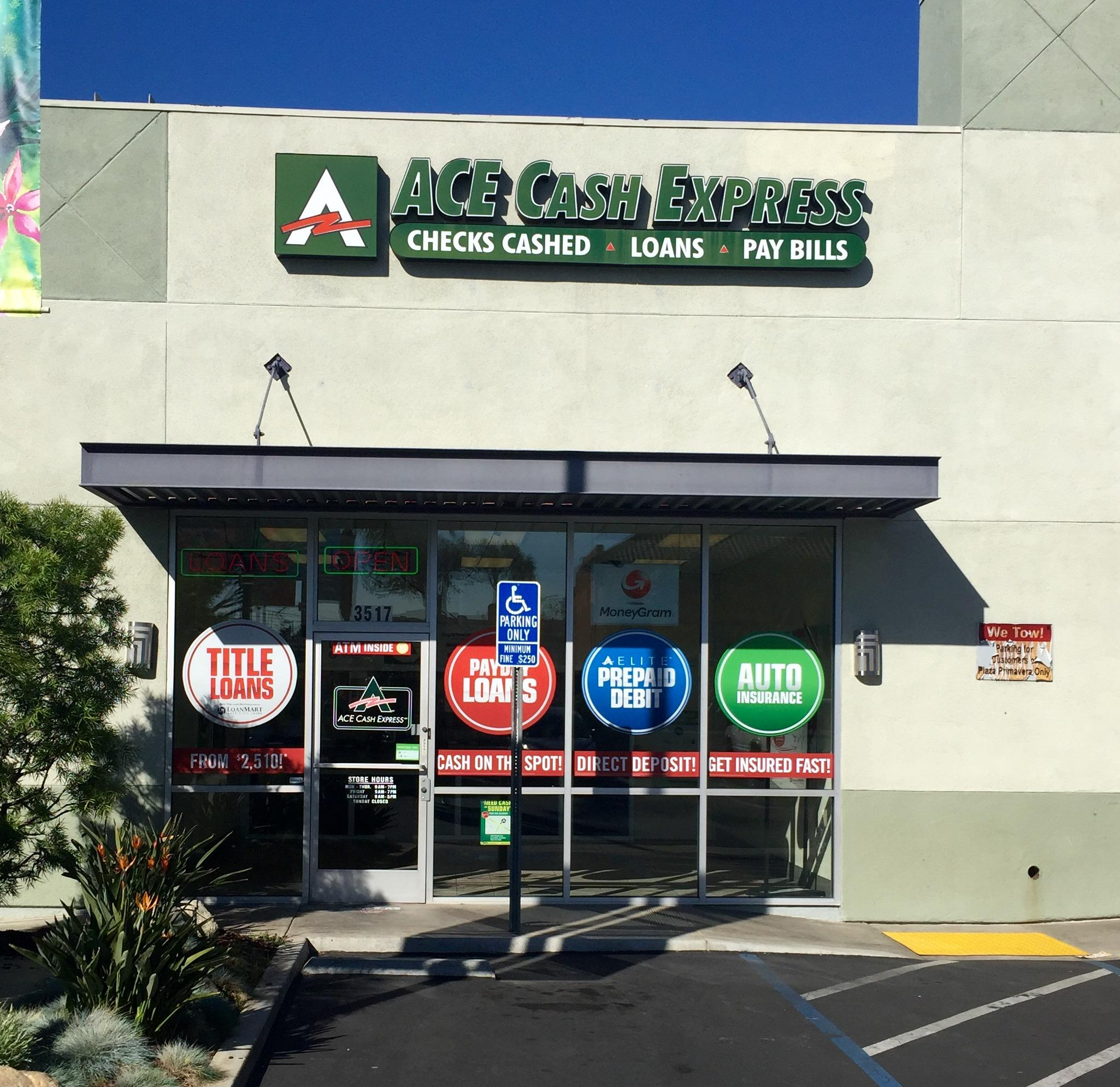 Find ACE Cash Express in the US. List of ACE Cash Express store locations, business hours, driving maps, phone numbers and more/5().