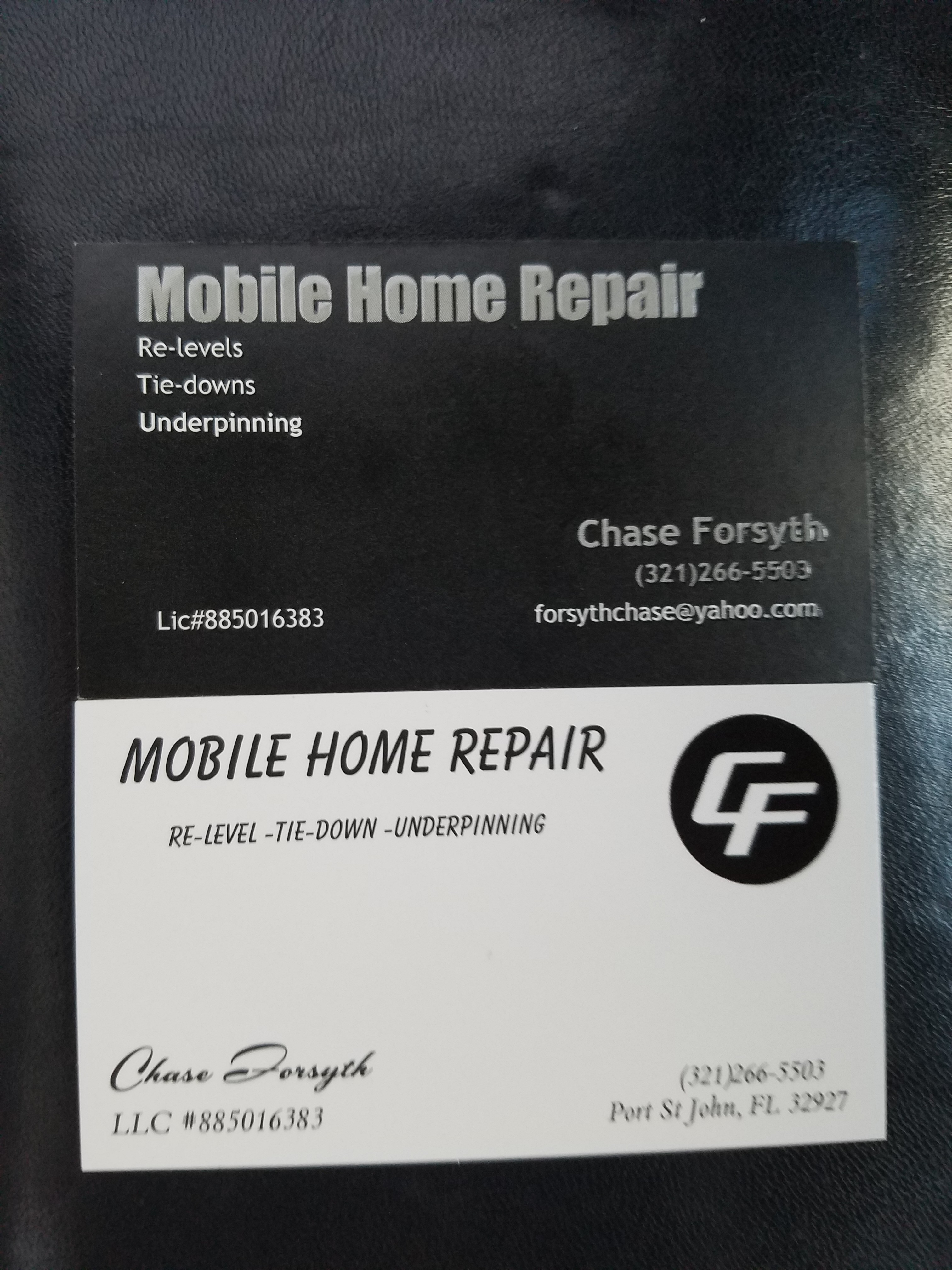 mobile home relevel & repair