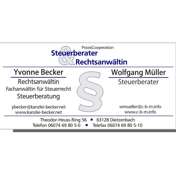 Becker + Müller Steuerberater + Rechtsanwältin Yvonne Becker + Wolfgang Müller