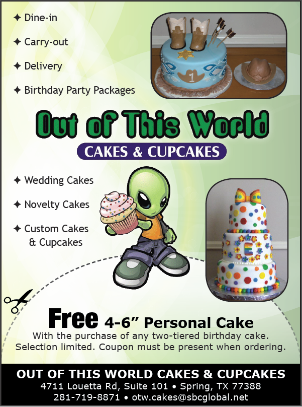 Out of This World Cakes & Cupcakes - Spring, TX