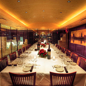 Del Frisco's Double Eagle Steakhouse Charlotte Full Cellar private dining room