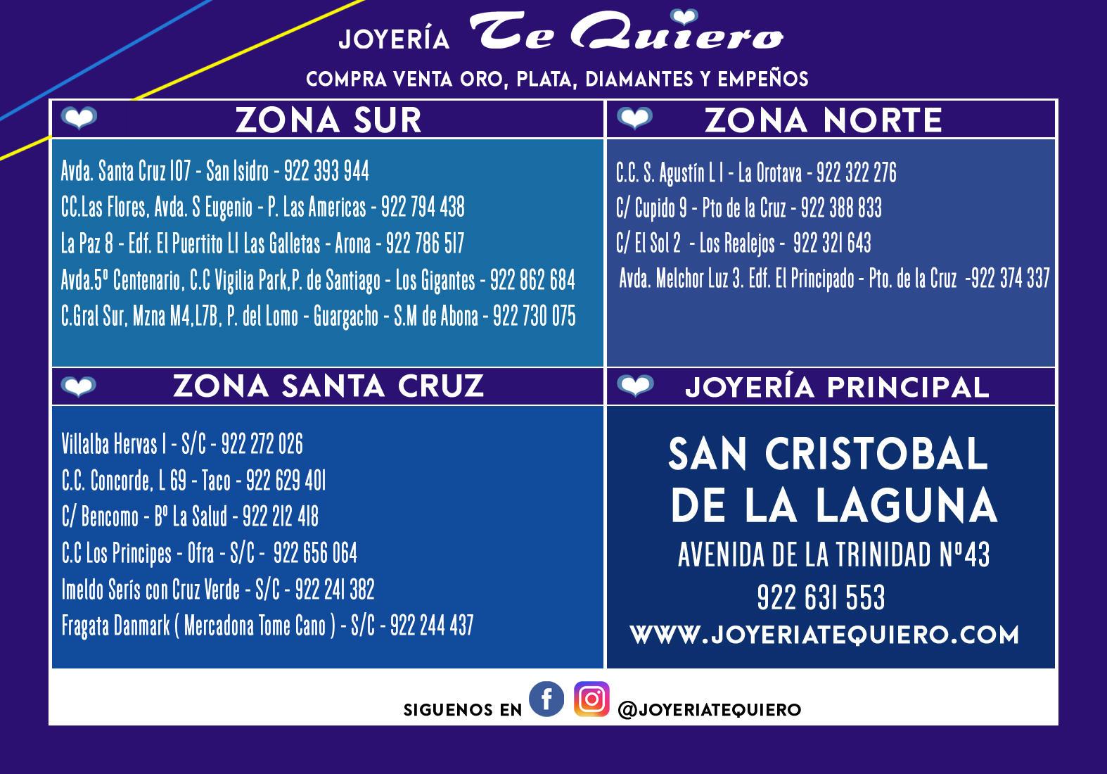 más fotos 5f16c 18d28 Joyerías Te Quiero - Bisutería, Joyería, Relojería (Al Por ...