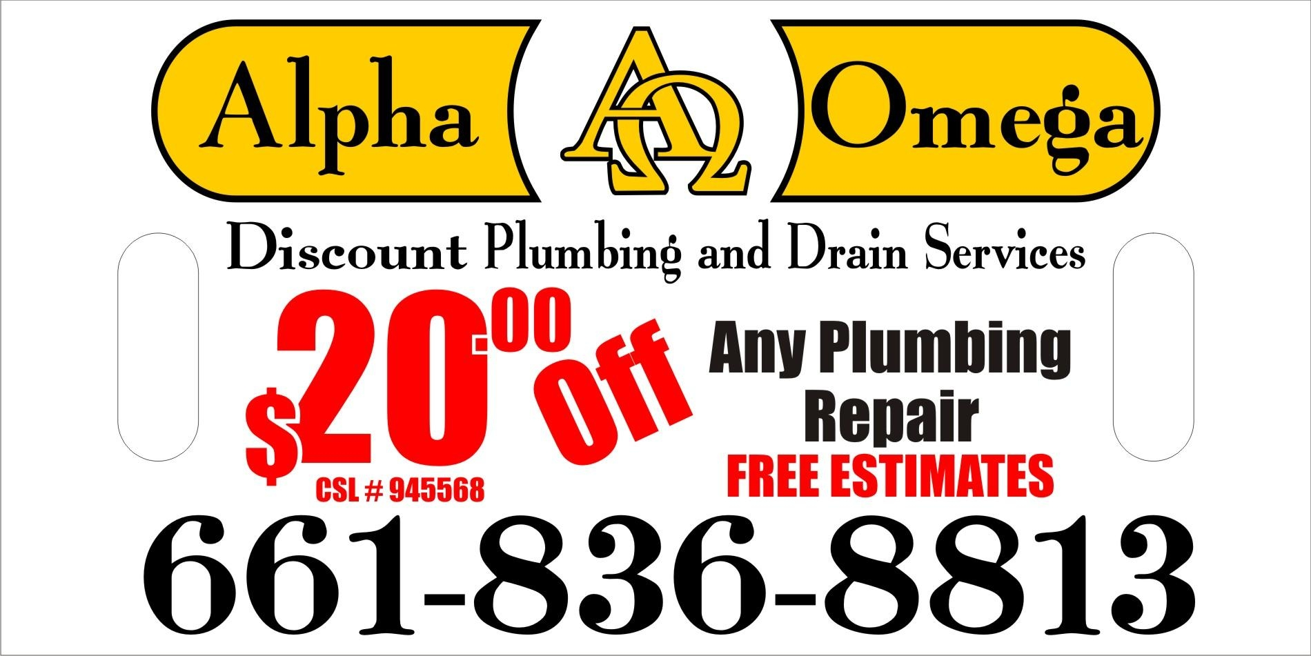 Alpha Omega Discount Plumbing Amp Drain Services In