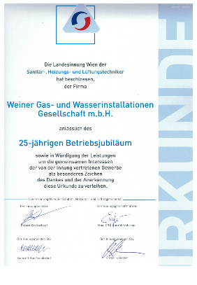 G. Weiner Gas - Wasser - Heizung Gesellschaft m.b.H.