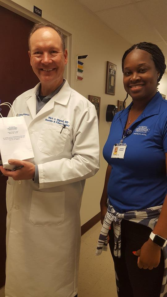 Dr. Mighell with Florida Orthopaedic Institute Staff Member