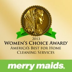 Merry Maids® earns the 2013 Women's Choice Award® for America's Best for Home in the category of cleaning services.