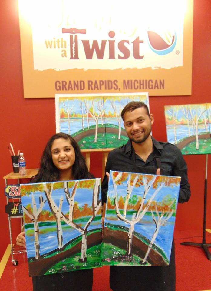 painting with a twist grand rapids michigan mi