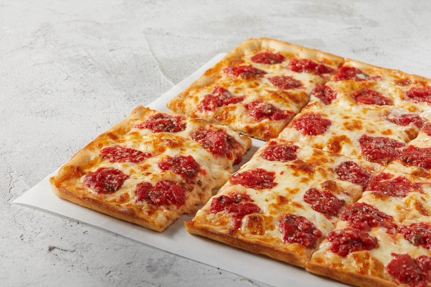 Need something thicker? Sbarro has thicker-crust Roman pizza.