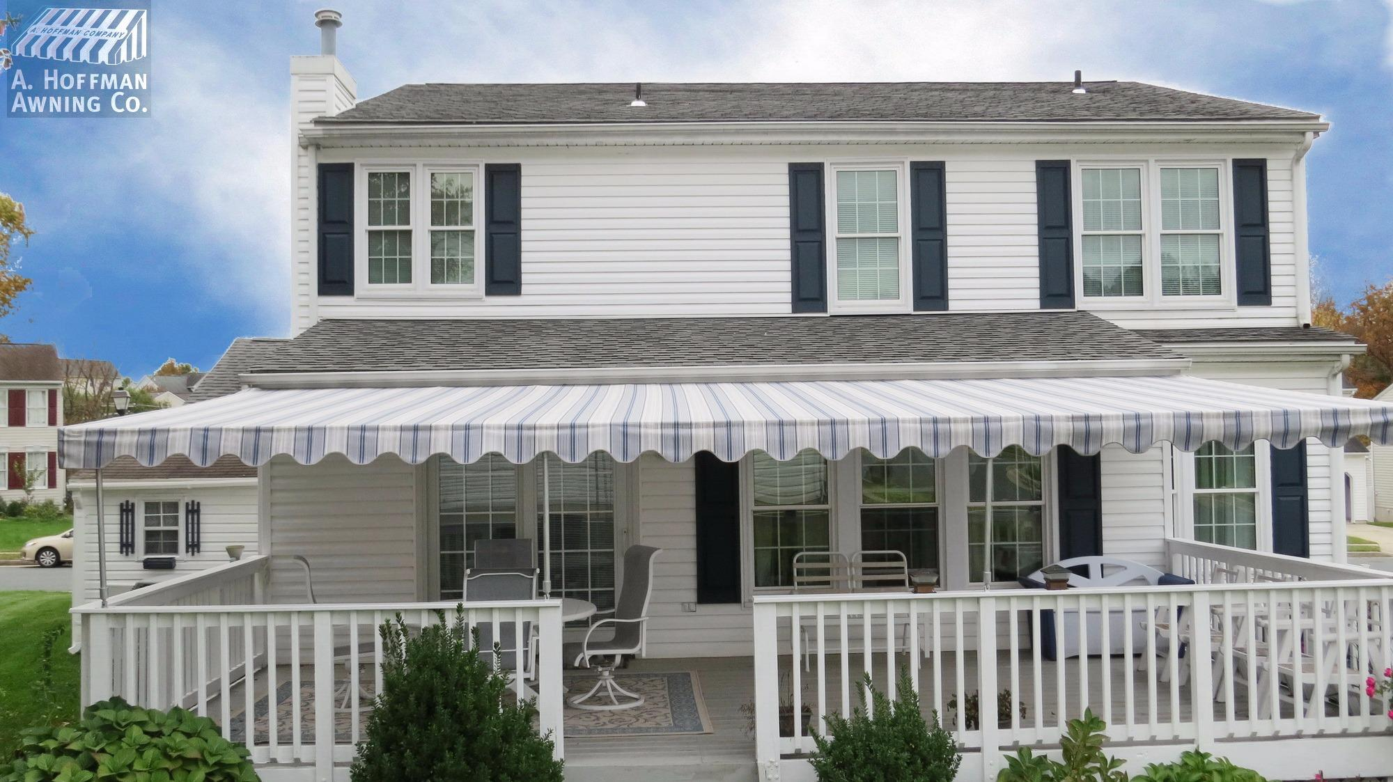 A. Hoffman Awning in Baltimore     410-685-5687     A porch awning for this Baltimore home has given the home an elegant facade and increased living space for the homeowners.