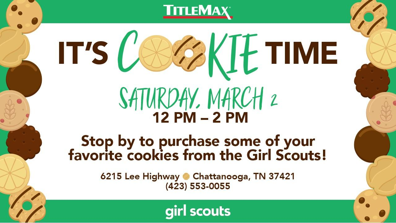 Girl Scout Cookie Time at TitleMax Chattanooga Lee Hwy