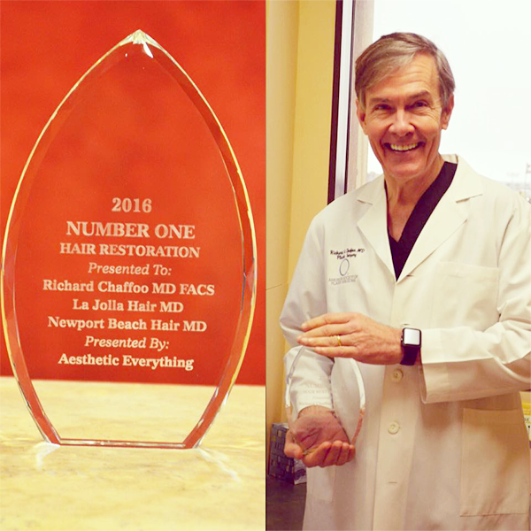 Dr. Chaffoo's hair restoration center in the San Diego area has been named number one in hair restoration by Aesthetic Everything in 2016. San Diego Hair MD is dedicated to providing compassionate care and service with our advanced hair restoration treatments for both men and women.