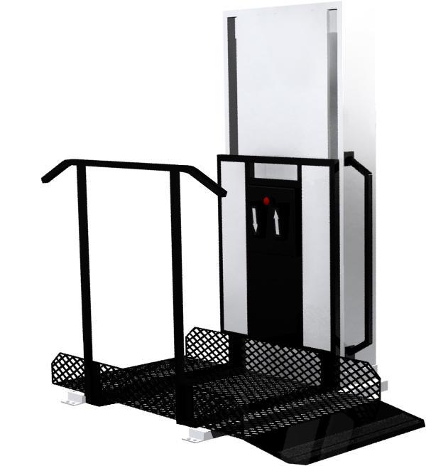 Trus-T-Lift vertical platform vpl lift for wheelchair