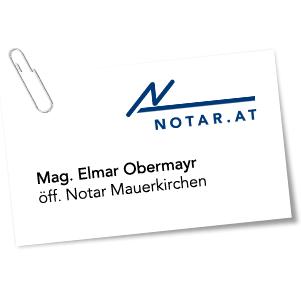 NOTARIAT Mauerkirchen, Mag Elmar Obermayr