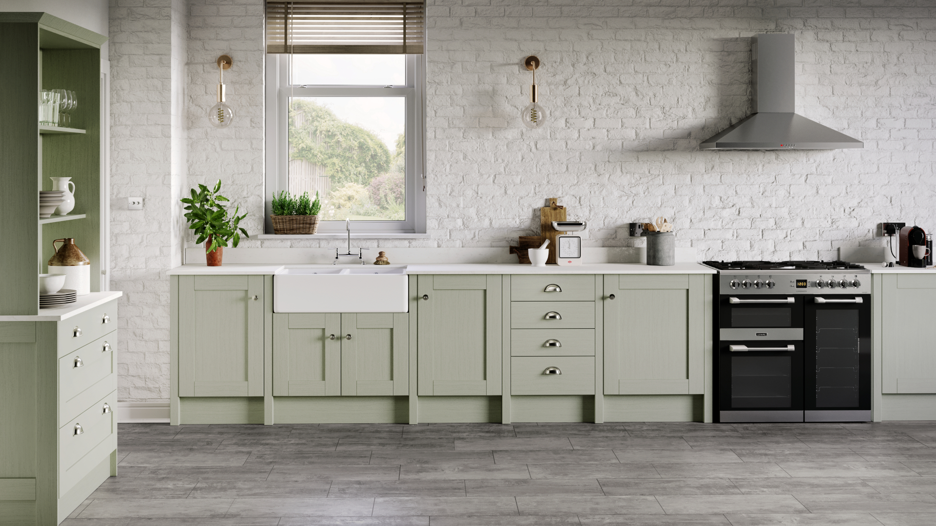 Tewkesbury Sage Green Howdens  - West Slough Slough 01753 205600