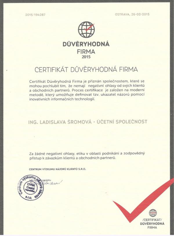 Účetní společnost - Šromová Ladislava Ing.