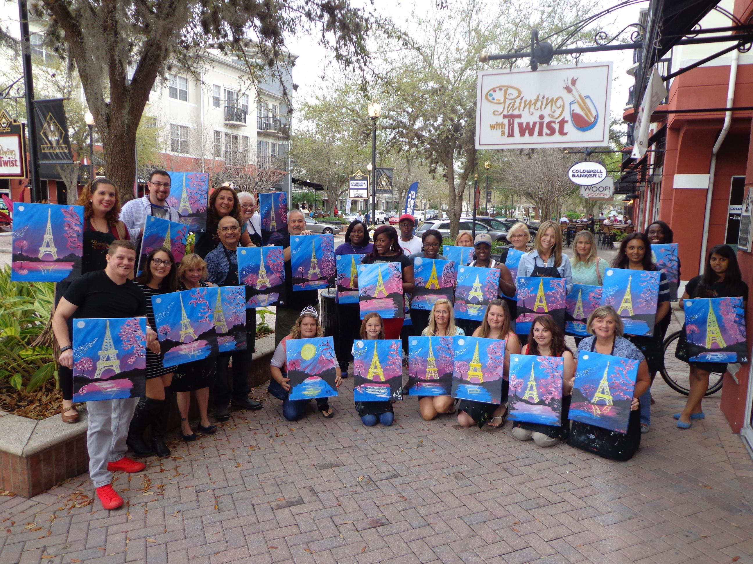 Painting with a twist in tampa fl 33626 for Michaels craft store tampa